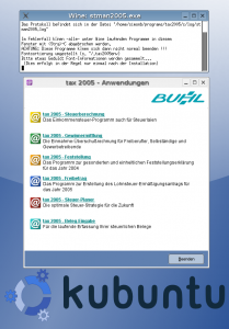 Buhl Data t@x 2005 Linux on Kubuntu 5.0.4