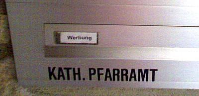 Briefkasten, Große Comburg, Schwäbisch-Hall