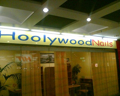 Shop Sign of HoolywoodNails