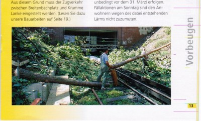 Foto in BVG Kundenzeitschrift