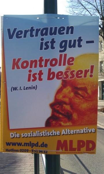 Wahlplakat in Halle (Saale)