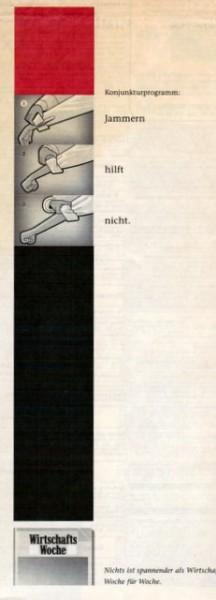 Print-Anzeige von Jung v. Matt für die Wirtschafts Woche